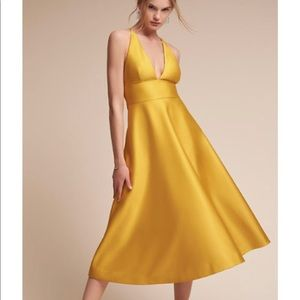 BHLDN A-line Yellow Size 4 Shelby Dress NWOT